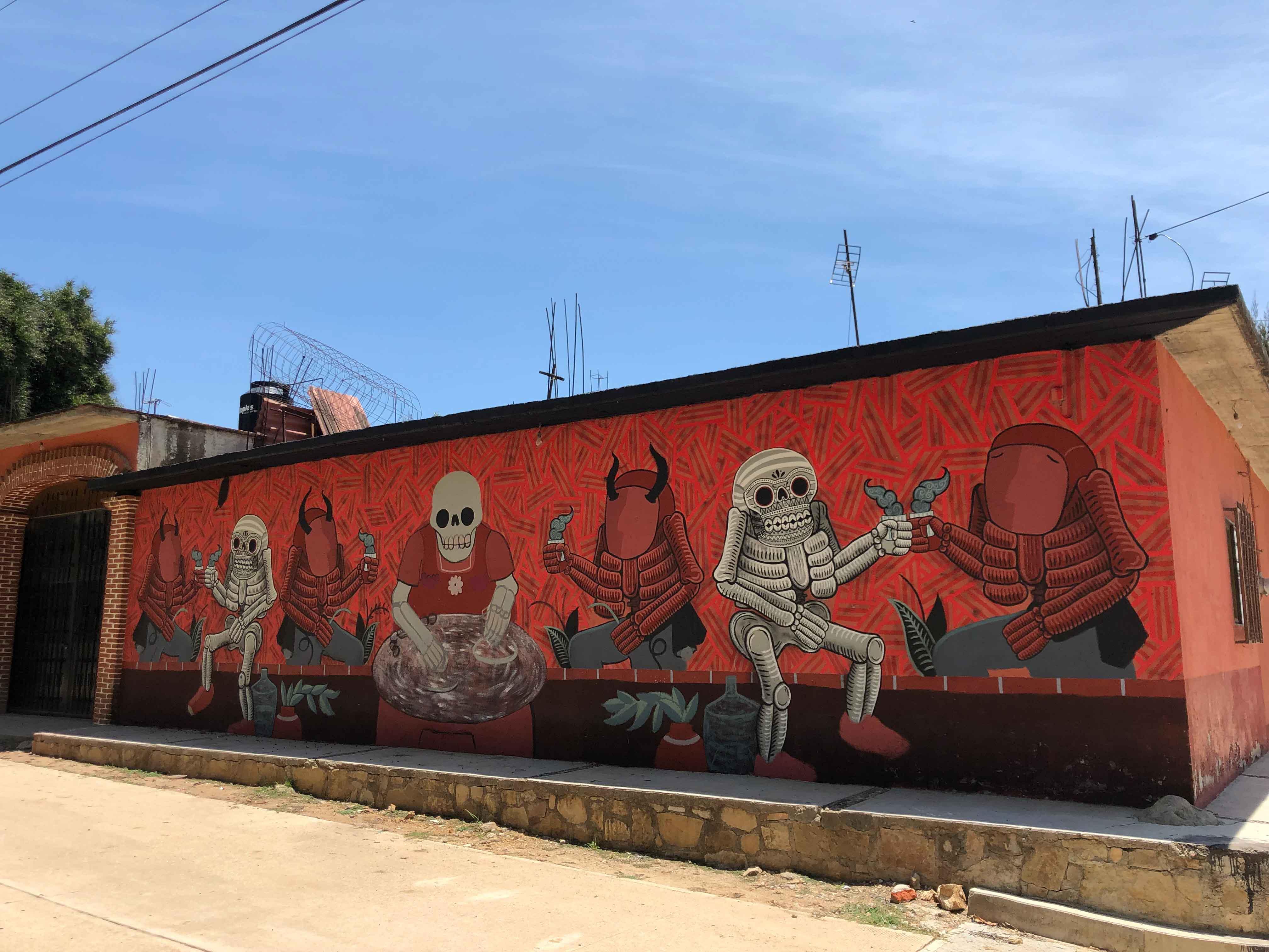 muertitos de hambre mural tilcajete oaxaca