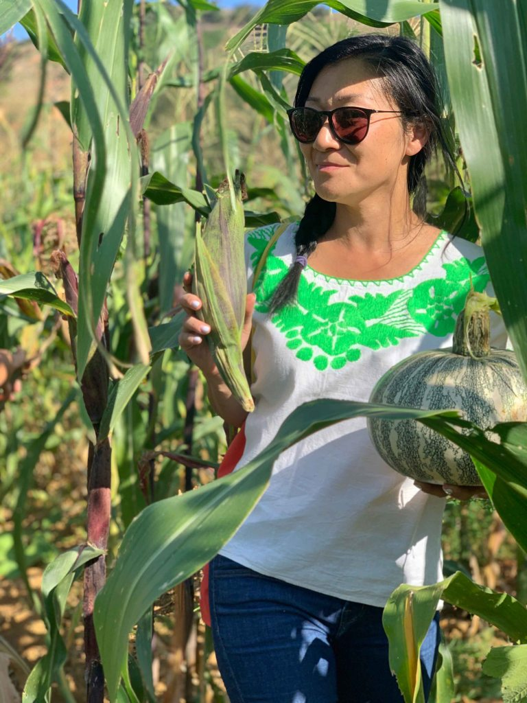 Susy Bando Oaxaca corn